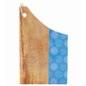 Large Blue Mango Wood Cutting Board